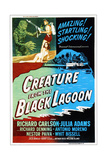 Creature from the Black Lagoon, Top Left: Richard Carlson, Julie Adams, 1954 Giclee Print