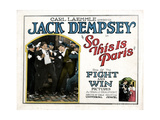 So This Is Paris, Jack Dempsey, 1924 Giclee Print