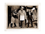 The Cook, Front: Roscoe 'Fatty' Arbuckle, Left: Buster Keaton, 1918 Giclee Print