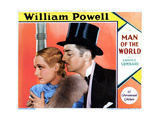 Man of the World, from Left, Carole Lombard, William Powell, 1931 Giclee Print
