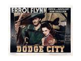 Dodge City, from Left, Errol Flynn, Olivia De Havilland, 1939 Giclee Print