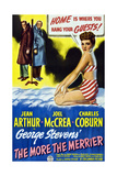 The More the Merrier, Left to Right: Joel Mccrea, Charles Coburn, Jean Arthur, 1943 Giclee Print