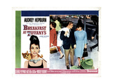 Breakfast at Tiffany's, from Left, George Peppard, Audrey Hepburn, 1961 Giclee Print