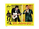 Go, Johnny, Go!, Bottom Left: Alan Freed, 2nd Left: Chuck Berry, Jackie Wilson, 1959 Giclée-tryk