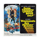 Diamonds are Forever, Sean Connery (Gun), 1971 Giclée-tryk