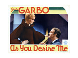 As You Desire Me, from Left, Greta Garbo, Roland Varno, 1932 Giclée-tryk