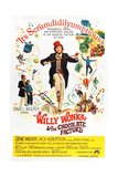 Willy Wonka and the Chocolate Factory, Gene Wilder (Center), 1971 Giclée-tryk