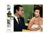Dr. No, Sean Connery, Zena Marshall, 1962 Giclée-tryk