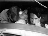 Bonnie and Clyde, Michael J. Pollard, Faye Dunaway, Warren Beatty, 1967 Photo