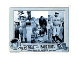 Play Ball with Babe Ruth, Babe Ruth, 1920 Giclee Print