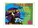 Three Weekends, Title Lobbycard, Clara Bow, 1928 Giclee Print