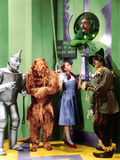 The Wizard of Oz, Jack Haley, Bert Lahr, Judy Garland, Frank Morgan, Ray Bolger, 1939 Photo