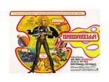 Barbarella, British Poster Art, Jane Fonda, 1968 Giclee Print