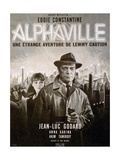 Alphaville, Anna Karina, Eddie Constantine, 1965 Giclee-vedos