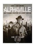 Alphaville, Anna Karina, Eddie Constantine, 1965 Giclee Print