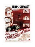 Rear Window, (aka Fenetre Sur Cour), French Poster Art, 1954 Lámina giclée