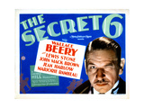 The Secret Six, Wallace Beery, 1931 Giclee Print