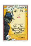 Chinatown, (AKA Barrio Chino), Argentinan Poster, from Left: Jack Nicholson, Faye Dunaway, 1974 Reproduction procédé giclée