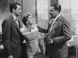 Suspicion, from Left: Cary Grant, Joan Fontaine, Nigel Bruce, 1941 Photo