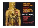 Goldfinger, Sean Connery, Honor Blackman, 1964 Wydruk giclee