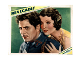 Renegades, from Left, Warner Baxter, Myrna Loy, 1930 Giclee Print
