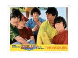 Help, George Harrison, Ringo Starr, Paul Mccartney, John Lennon, 1965 Giclée-tryk