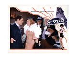 42nd Street, from Left, Warner Baxter, Ginger Rogers, Ned Sparks, Guy Kibbee, 1933 Giclee Print