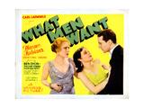 What Men Want, from Left: Pauline Starke, Barbara Kent, Ben Lyon, 1930 Giclee Print