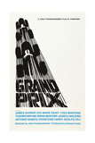 Grand Prix, Poster Art by Saul Bass, 1966 Giclée-Druck