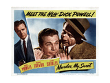 Murder My Sweet, Dick Powell, Mike Mazurki, 1944 Giclée-tryk