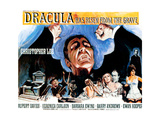 Dracula Has Risen from the Grave, (Poster Art), Christopher Lee, 1968 Giclée-tryk