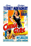 China Girl, Gene Tierney, George Montgomery, 1942 Giclee Print