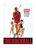 Thunderball, Sean Connery 1965 Giclee Print