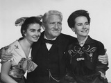 The Actress, from Left: Jean Simmons, Spencer Tracy, Teresa Wright, 1953 Photo