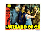The Wizard of Oz, from Left: Jack Haley, Ray Bolger, Judy Garland, Bert Lahr, 1939 Giclée-tryk