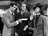 His Girl Friday, from Left: Cary Grant, Ralph Bellamy, Rosalind Russell, 1940 Photo