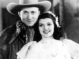 Trouble in Texas, from Left: Tex Ritter, Rita Hayworth as Rita Cansino, 1937 Photo