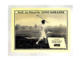Golf, as Played by Gene Sarazen, Gene Sarazen, 1932 Giclee Print