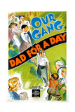 Dad for a Day, 1939 Giclée-tryk