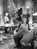 It's a Wonderful Life, Larry Simms, Jimmy Hawkins, James Stewart, Donna Reed, Karolyn Grimes, 1946 Photo