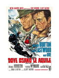 Where Eagles Dare, (AKA Dove Osano Le Aquile), from Left: Clint Eastwood, Richard Burton, 1968 Giclee Print