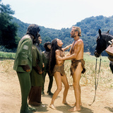 Planet of the Apes, Roddy Mcdowall, Kim Hunter, Linda Harrison, Charlton Heston, 1968 Photo