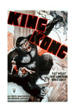 King Kong, Swedish 1938 Re-Release Poster, 1933 Giclee Print