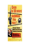 Witness for the Prosecution, Tyrone Power, Marlene Dietrich, 1957 Giclée-tryk