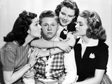 Love Finds Andy Hardy, Ann Rutherford, Mickey Rooney, Judy Garland, Lana Turner, 1938 Photo