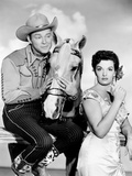 Son of Paleface, from Left: Roy Rogers, Trigger, Jane Russell, 1952 Photo