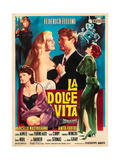 La Dolce Vita, Anita Ekberg, Marcello Mastroianni, 1960 Giclee Print