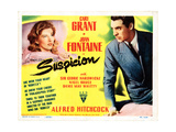 Suspicion, Joan Fontaine, Cary Grant, 1941 Giclee Print