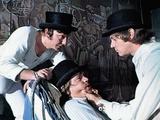 A Clockwork Orange, from Left, James Marcus, Warren Clarke, Malcolm Mcdowell, 1971 Photo