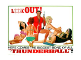 Thunderball, Sean Connery, (Poster Art), 1965 Giclee Print